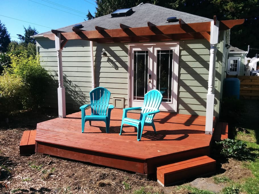 Deck for relaxing on one of Seattle's two sunny days!