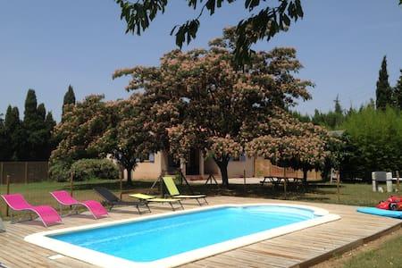 villa a la campagne jardin piscine - Camélas - House