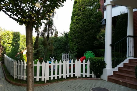 Stonning house in gated community