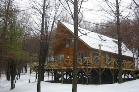 Mountain Chalet on 70 wooded acres - East Meredith - Dom