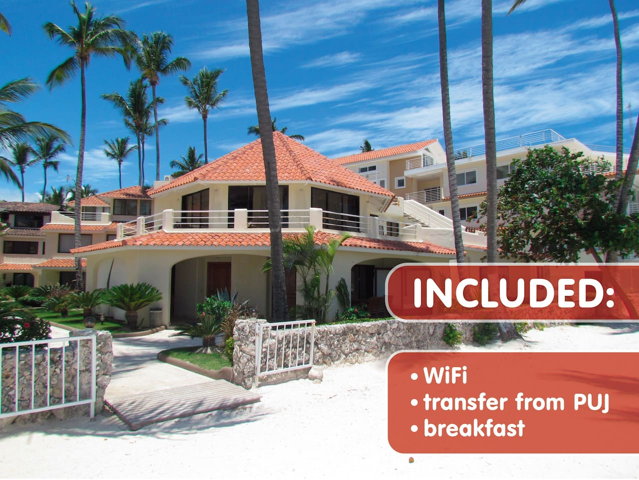 Autumn discounts (01-Oct-15 - 15-Dec-15): wifi for all guests, pick-up for booking from 5 nights, breakfast at beach cafe for the first morning for those who use instant booking.