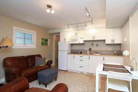 Centrally located in the heart of Cambie Village this one bedroom private suite is on the ground floor of a multi dwelling home just steps away from the many coffee shops, grocery stores, shops and restaurants along the Cambie corridor.