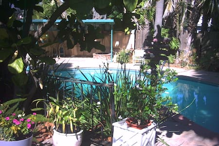 Huge private studio with pool! - Vista - Apartamento