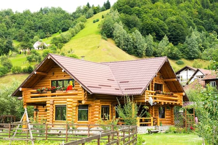 Best luxury chalet in the Bran/Moeciu area !  We offer 5 double rooms (49 eur per night for 2 ppl) Each of them having a private bathroom, in a villa located in Moeciu de Jos, a picturesque village in Transylvania, only 7 km away from Bran Castle.