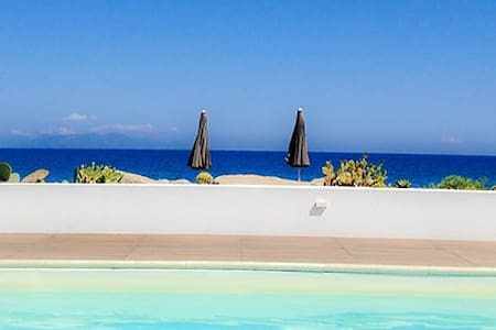 Beach-side with pool-Stromboli B - Terme Vigliatore - Apartment