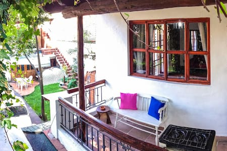 The Bungalow is a perfect private room for two guests. It is located in a peaceful area, is a few minutes from the center of Coyoacan, one of the most important places to visit when you come by this city.