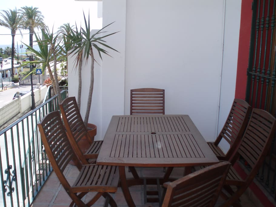 Patio area ideal for BBQ and sangria