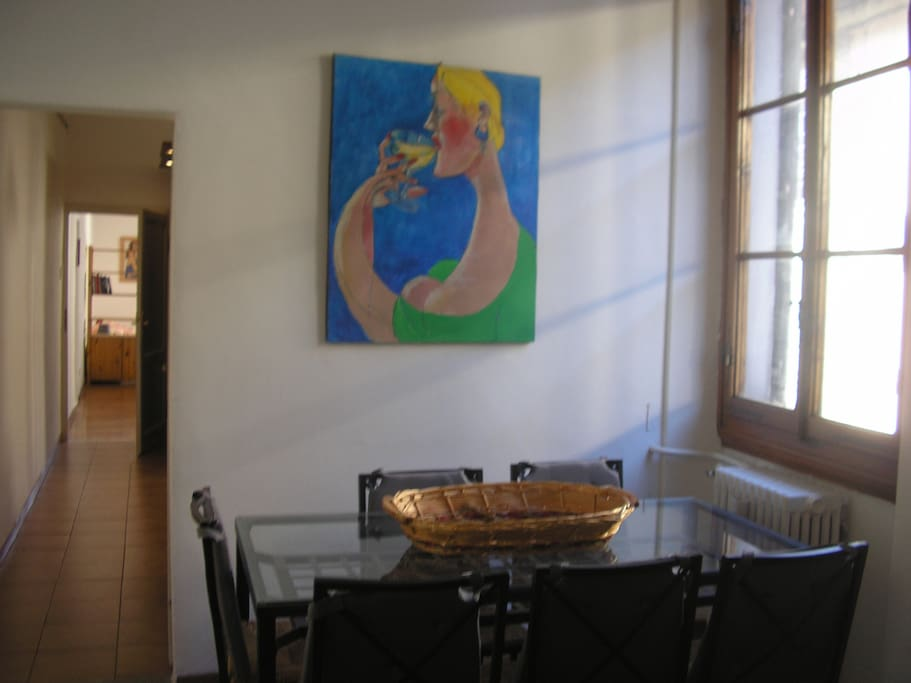 "dinner room picture  named "" la Gigantessa"" made by my father Roberto Maestro"