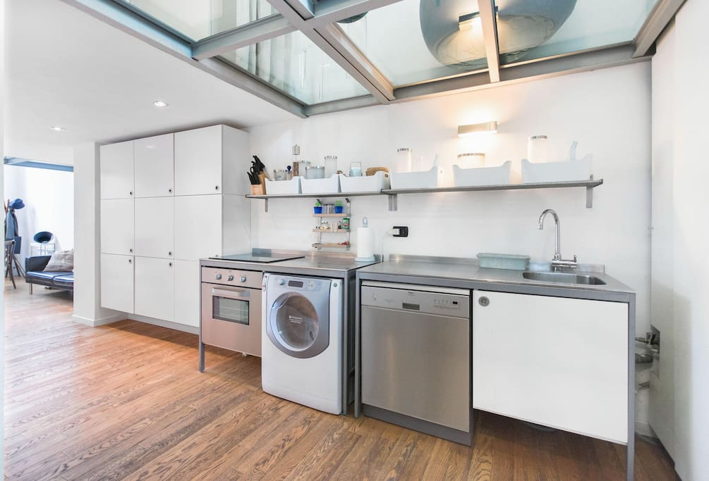 """""""The Kitchen with touch induction cooker"""""""