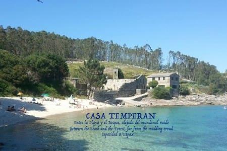 Temperan, Casa de alquiler 2/11 pax - cangas del Morrazo