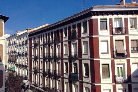 Sunny Double Bedroom with Balcony - Madrid - Pis