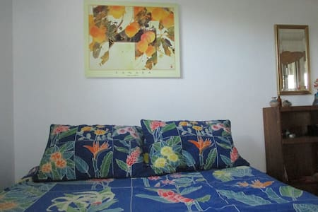 Find yourself in paradise! A private ocean view apartment on a small organic Kona coffee farm close to the beach & Place of Refuge National Park. Large living room, bedroom with queen size bed, private covered lanai/terrace, bathroom and kitchenette.