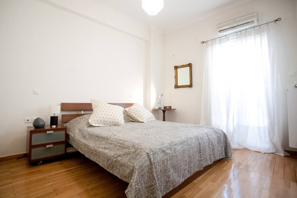 This is the master bedroom with aircondition