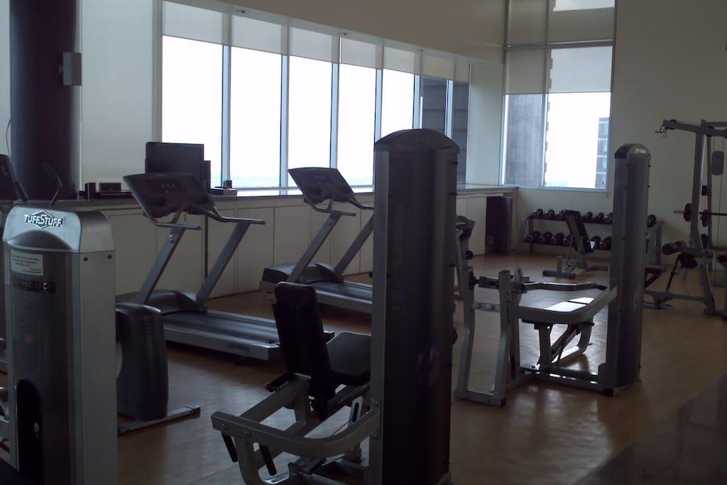 Gym on the Penthouse floor