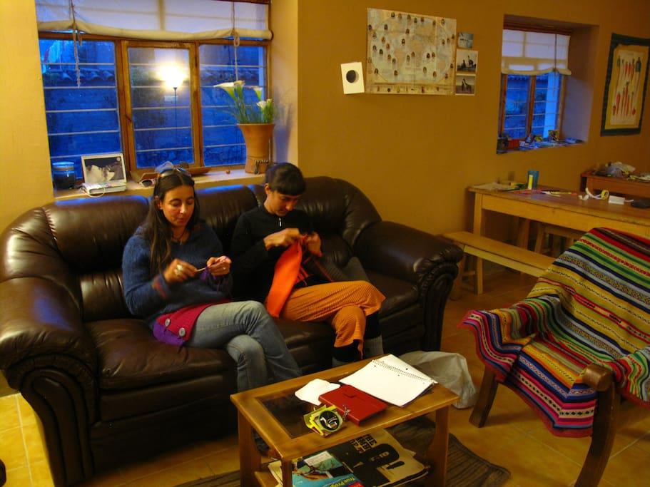 Zona ideal para el estudio y el relajo.