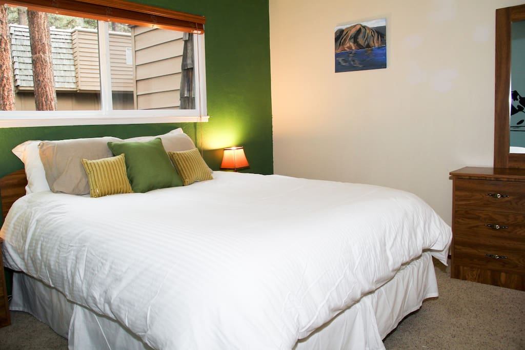 Bedroom 1 - fresh linen for every set of guests.