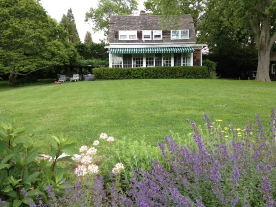 Beautifully landscaped. Quiet, relaxing oasis with beautiful flowers, plants and trees.