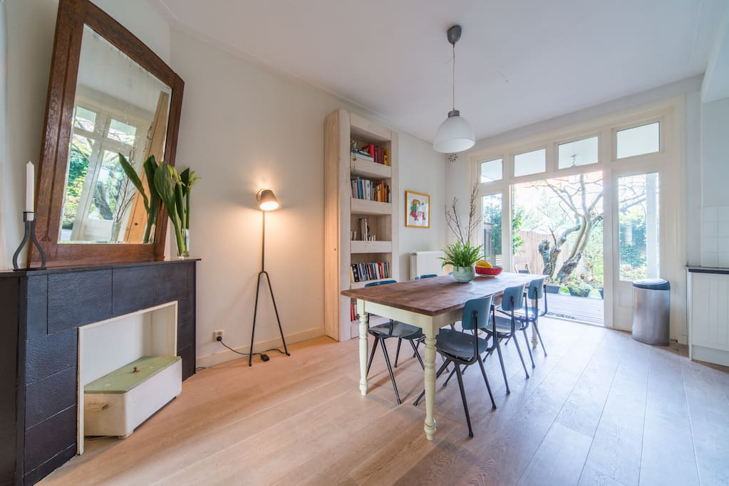 Kitchen with big dining table
