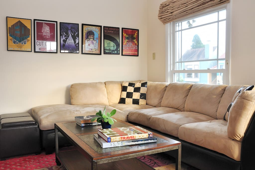 Living room, continued