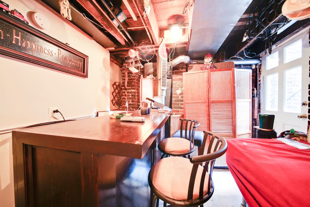 The Pub at Club 907 behind the laundry room!