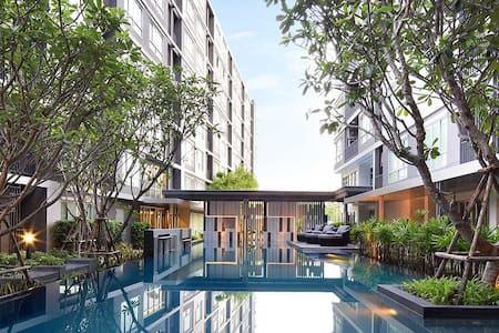 Fully furnished pool view room in Rayong' downtown - Rayong