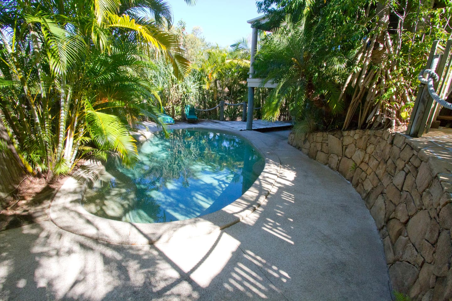 Whether you prefer a refreshing dip in the pool or to just listen to the birds, read a book or relax, this area is ideal. And it's private.