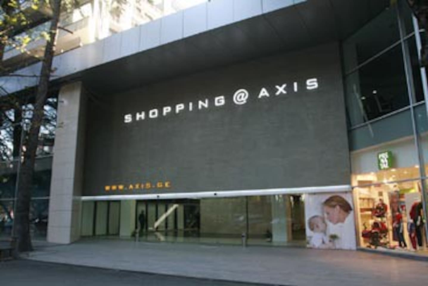 axis shopping centre, on our site area