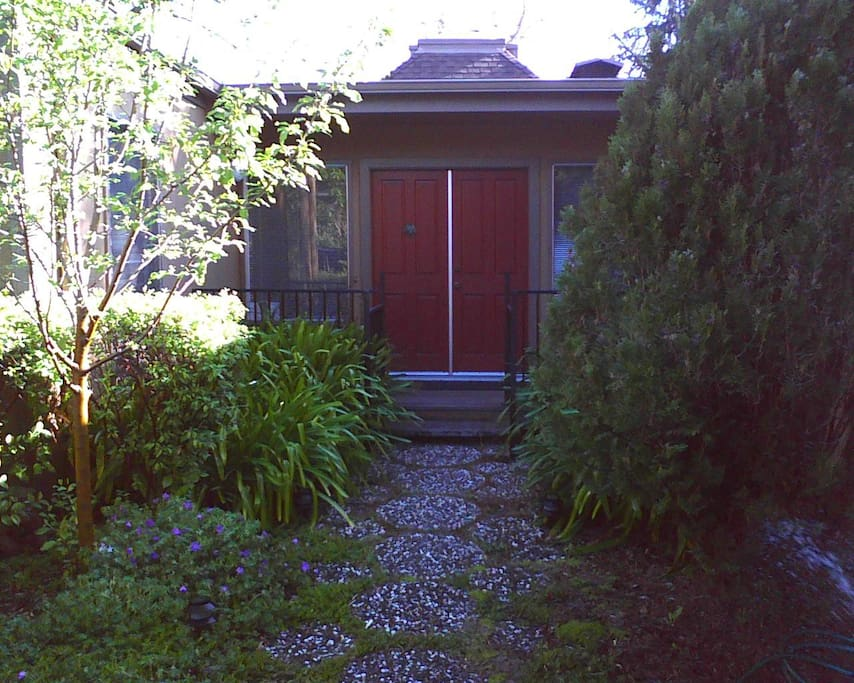 Front door and walk way