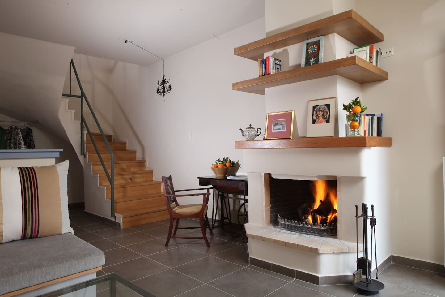 Your own fireplace in your sitting room.