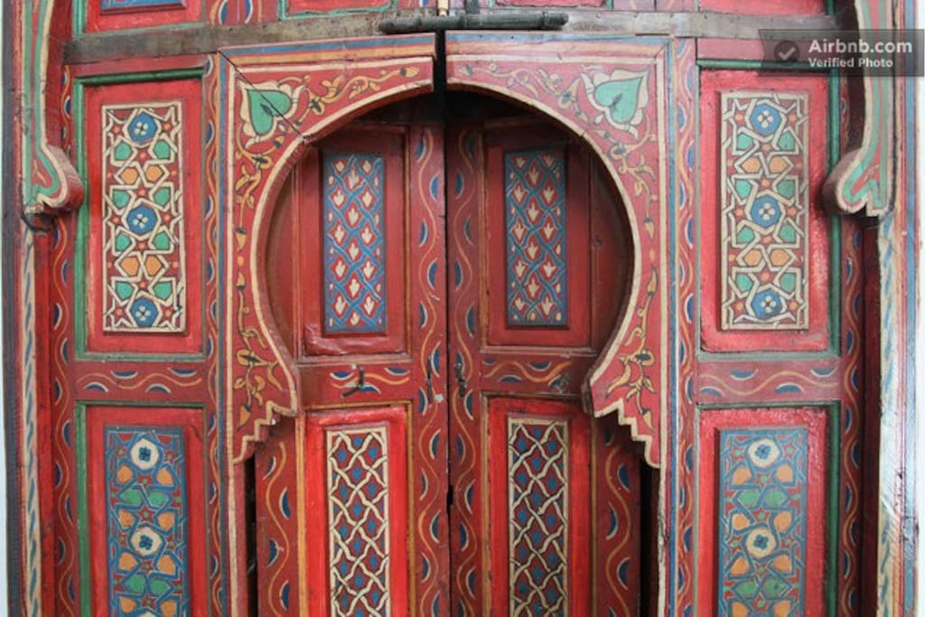 Moroccan door at the house.