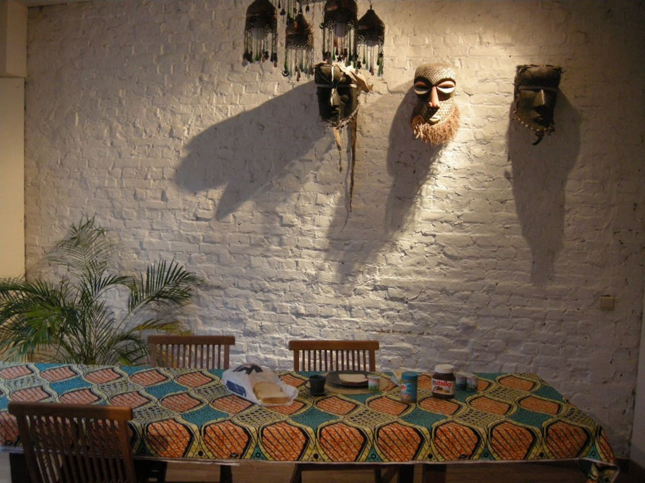 our ground floor - the dining table