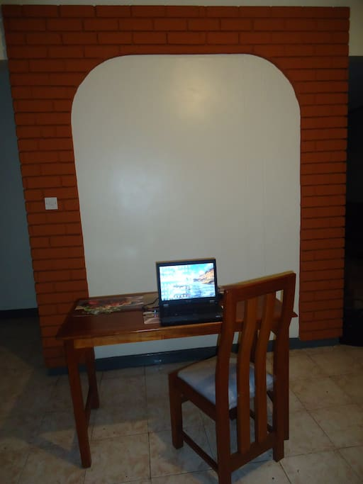 Reading Desk with wifi internet access all over the house