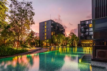 Luxury Patong Beach Studio for 2 with Pool & Gym! - Apartament