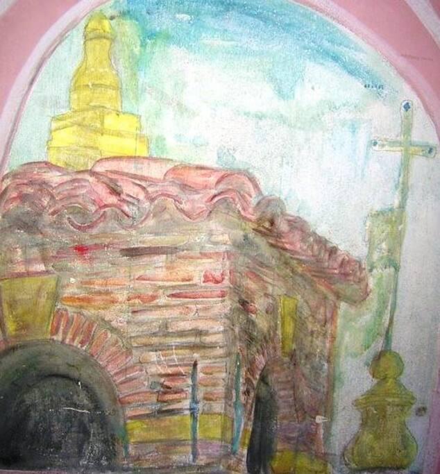Torre Campanile delle Chiesa delle Zitelle dipinto nella Casa.