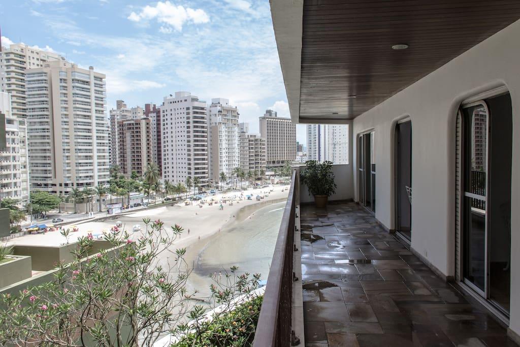 The Top View in Guarujá beach