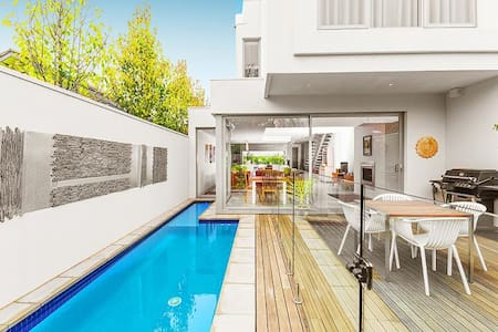 Cutting edge indulgence complete with pool in fabulous Elwood.