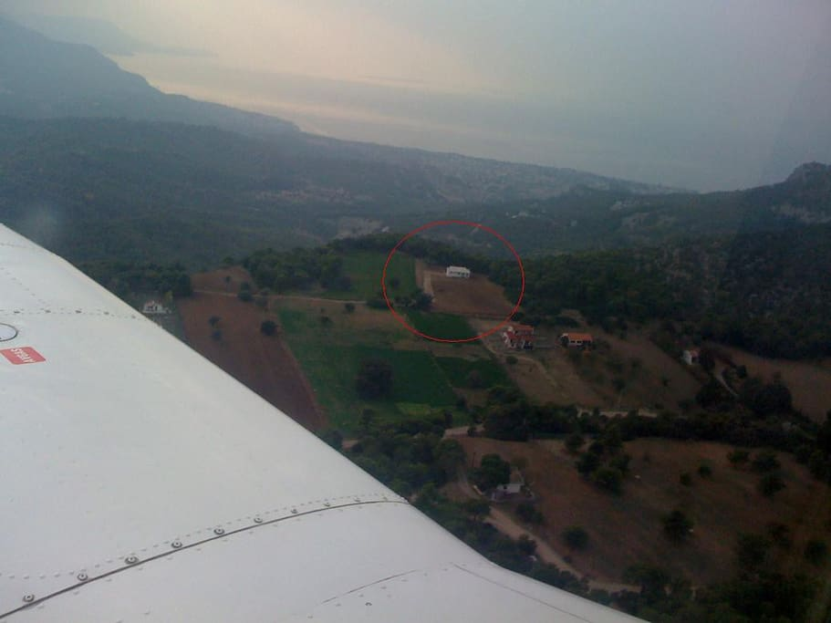 Panoramic view.. picture taken from a small airplane!