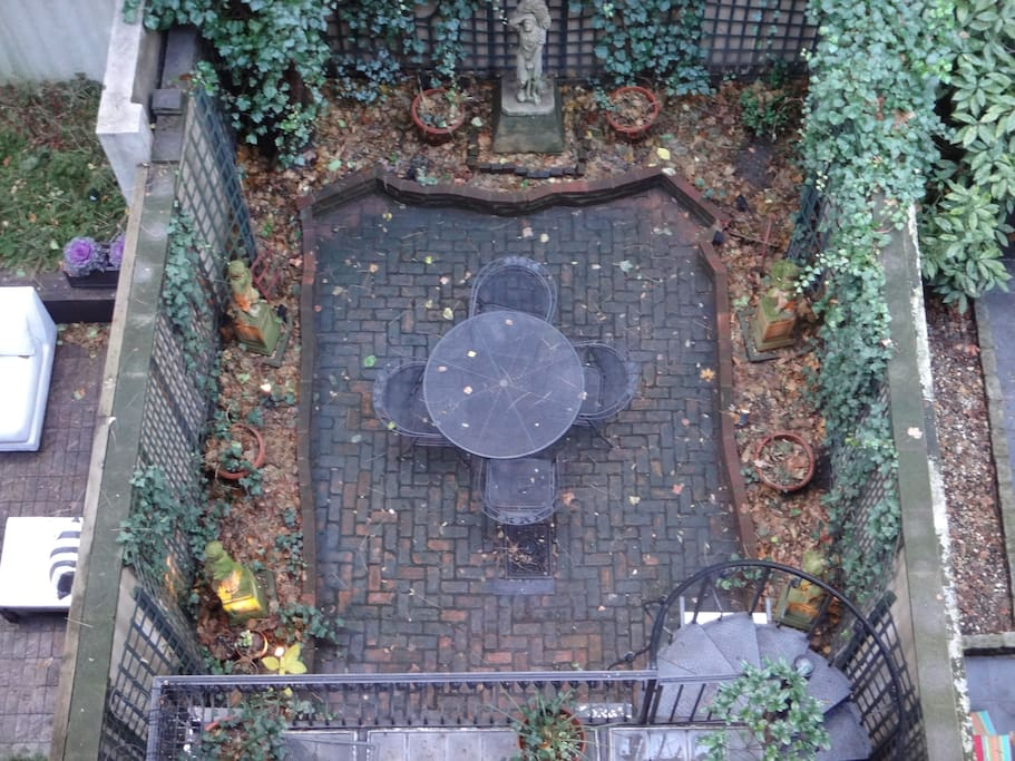Aerial view of your private garden