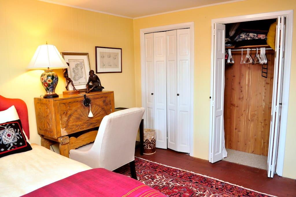 Your bedroom has a cedar lined closet