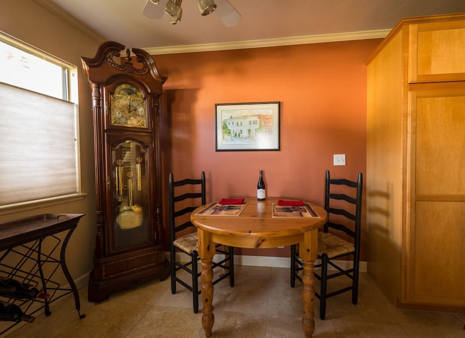 Dining Area with working Grandfather's Clock