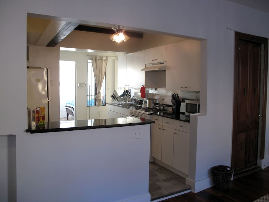 View of kitchen from the living room