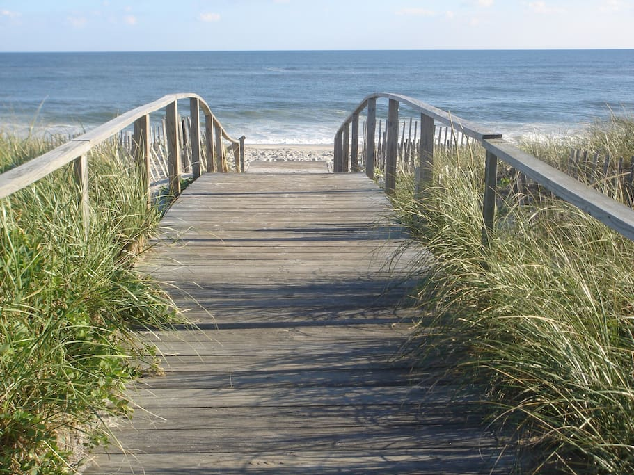 Walkway to beach from your door