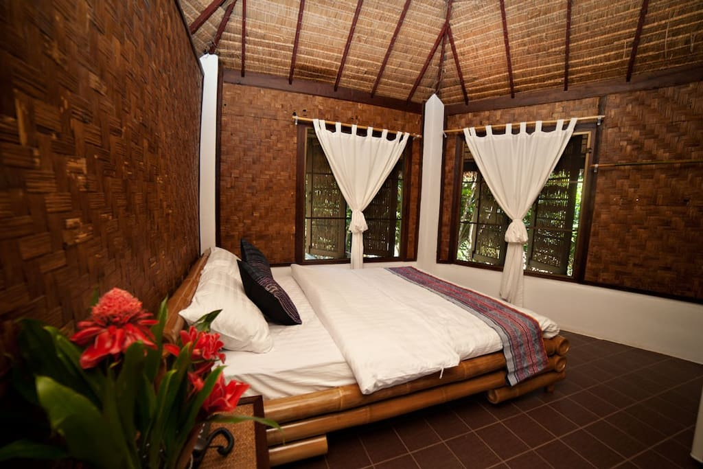 Inside Thai style bungalow