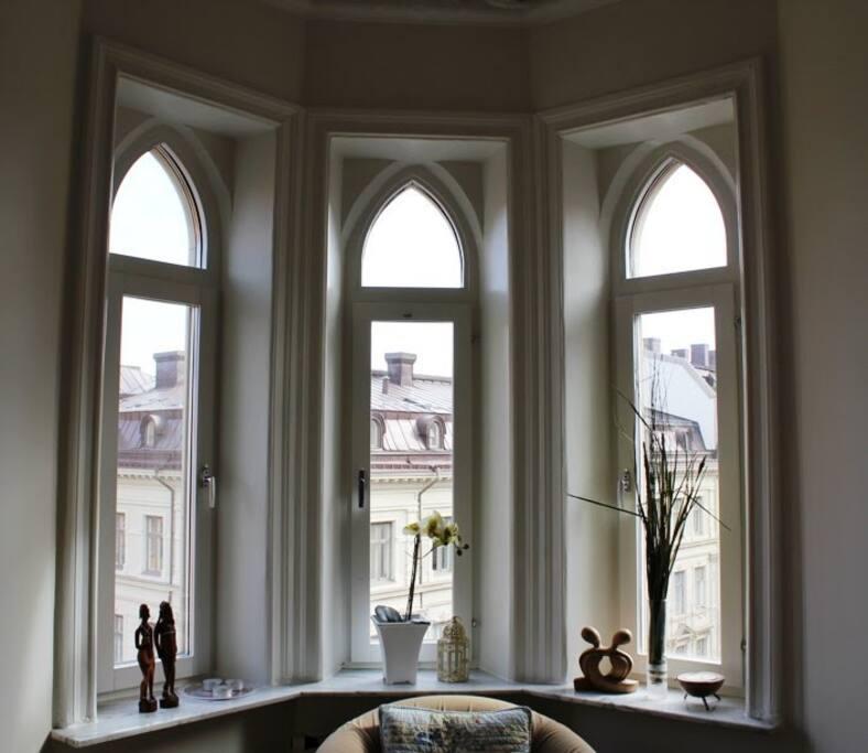 Beautiful windows with lots of light