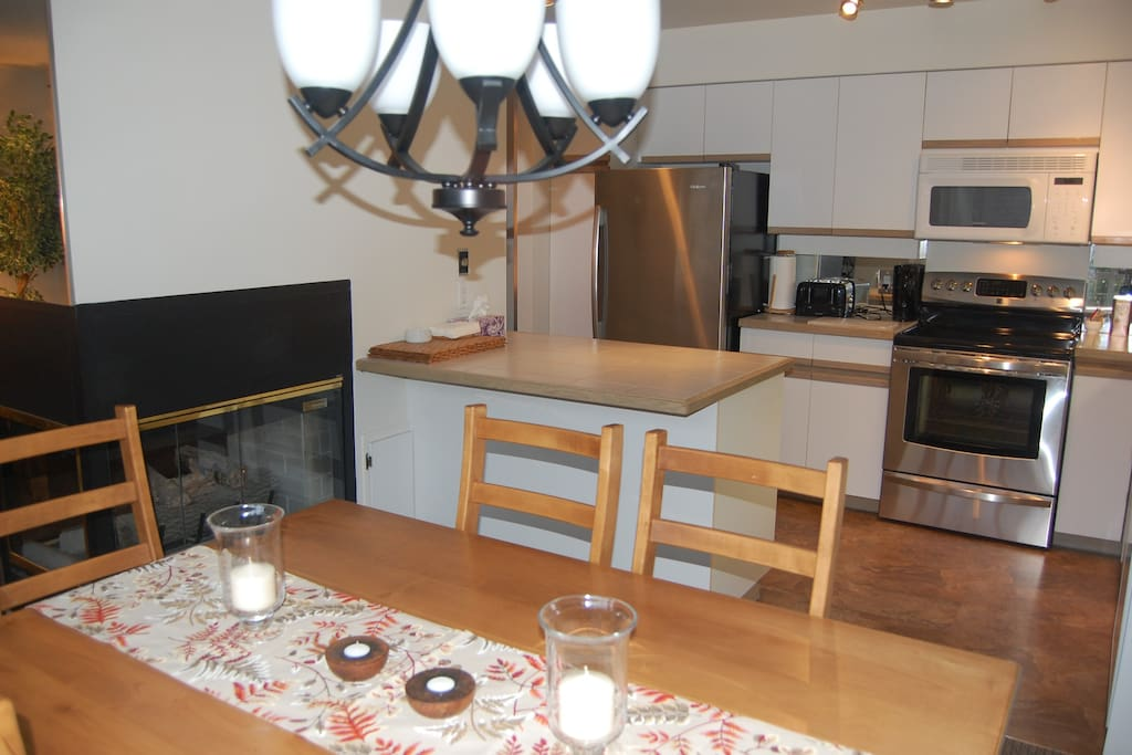 New full size stainless steele appliances, including micorwave and dishwasher.