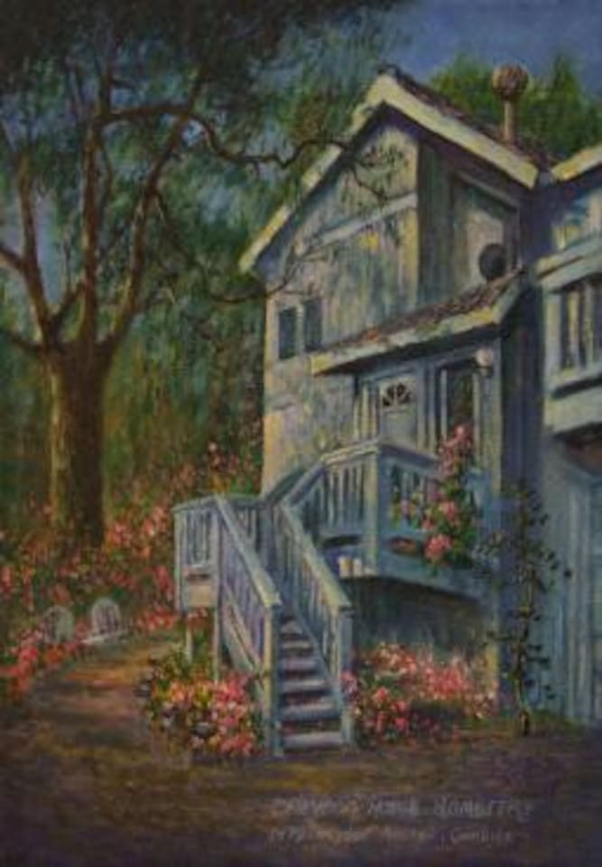 Dreydon House Bed and Breakfast in beautiful Lodge Hill Forest Oil Painting
