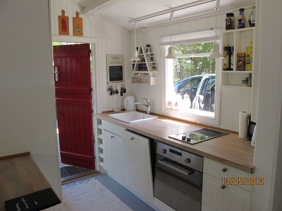 Brand new kitchen with all the amenities including microwave oven and dishwasher.