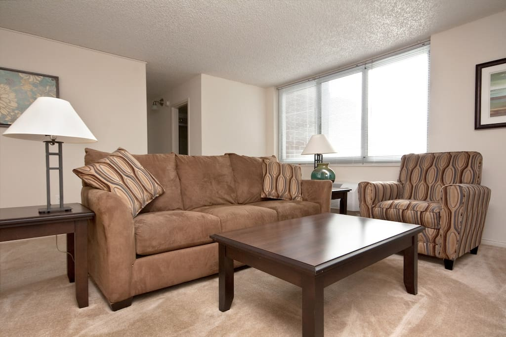 Living room inside your apartment 900 sq ft 4 times bigger than your