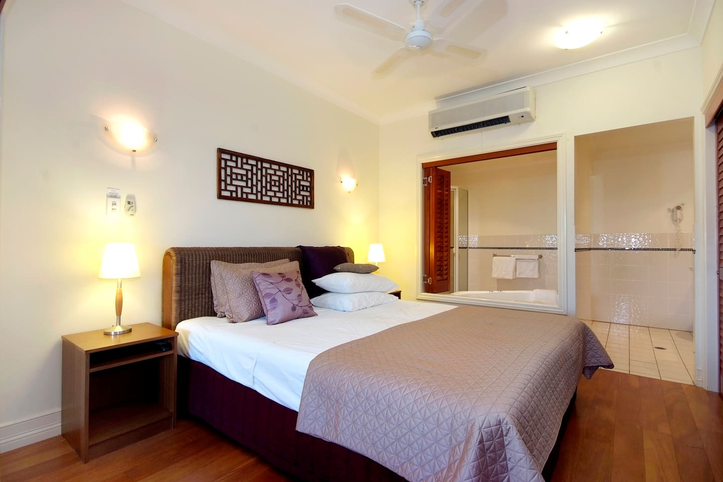 Main bedroom with two person spa............... hours of relaxation