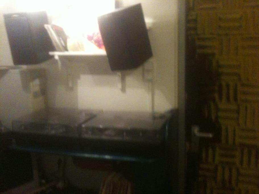 Isolated Sound Recording Studio